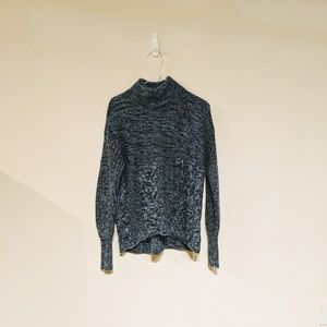Vera Wang navy sparkle turtleneck size S